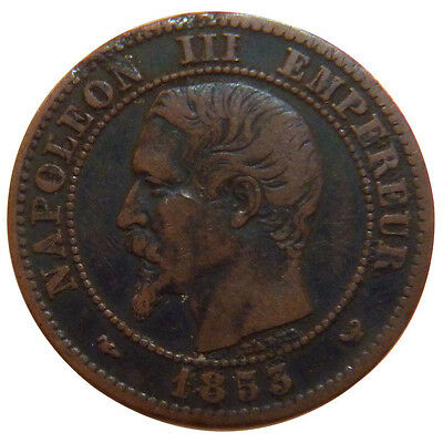 Monnaies, Second Empire, 2 Centimes Napoléon III Tête Nue #51199