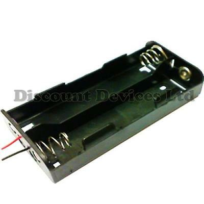 C Type x 4 Battery Holder Black With 12cm Leads