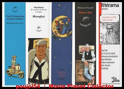 Lot de 5 MARQUE-PAGES : Shanghai,Tom'S Bar,Drugstore...