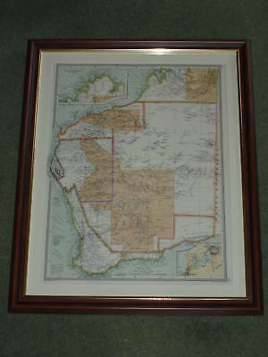 Rhodesia Map 1907 page over 110 years old  FRAMED