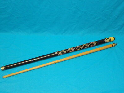 Vintage Hand Carved Dynaball Pool Cue