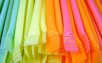 50 X Candy Straws Sweets Childrens Party Bag Fillers