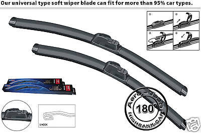 Ford Fiesta 2002 - 2007 BRAND NEW FRONT AND REAR WINDSCREEN WIPER BLADES