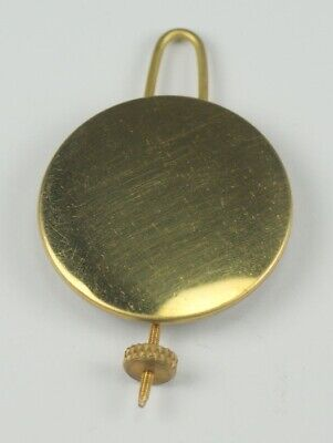 Brass clock pendulum bob diameter 35mm with wire repair parts clockmakers