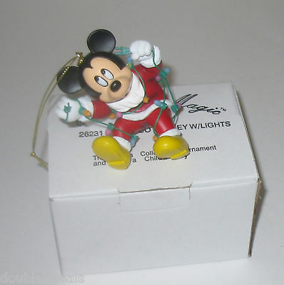 New Disney Grolier Ornament Mickey Mouse With Lights