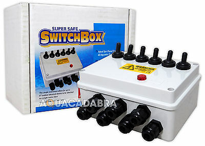 Lotus Oasis 6-Way Switch Box Universal Garden Pond Fish Koi Waterproof Switchbox
