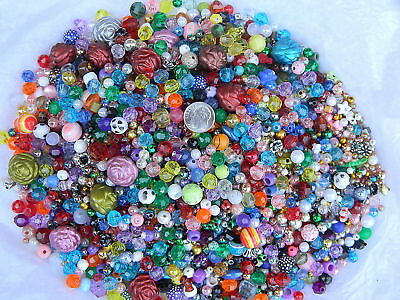 Huge 1 Pound Bag of Mixed Assorted Plastic Beads