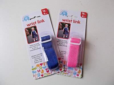 Childs Wrist Link Strap Safety  Pink Or  Blue New , Childrens , Toddler