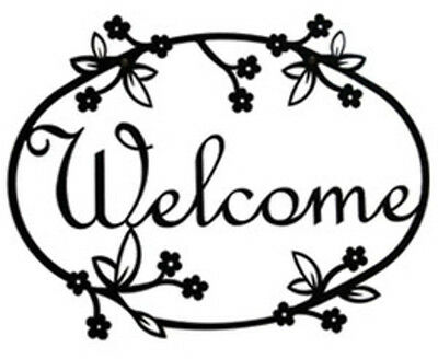Floral Welcome Sign by Village Wrought Iron WEL-164 New