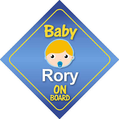 Baby Rory On Board Car Sign *Choice of Hair Colours*