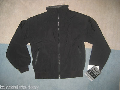 Mens Black bomber Jacket IKE water resistant Small 36 38 40  XL 46 48 50   New