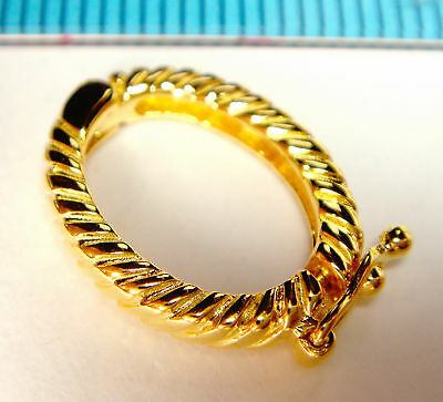 1x VERMEIL REAL 18K GOLD plated STERLING SILVER SHORTENER CONNECTOR CLASP G126