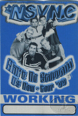 NSYNC 1999 NO STOPPIN' US NOW BACKSTAGE PASS Justin Timberlake