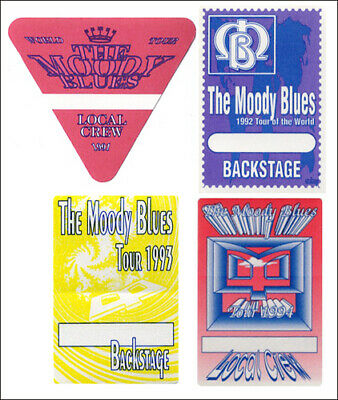 Moody Blues Backstage Pass Set 1991-1994 Tours
