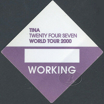 Tina Turner 2000 24/7 Tour Backstage Pass