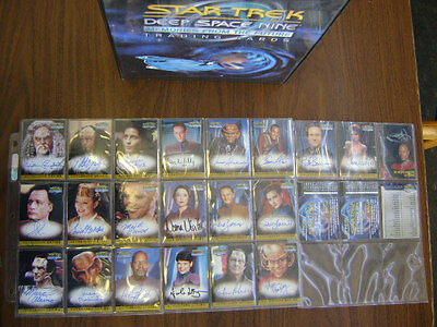Star Trek DS9 Memories From The Future Complete Master Set With Binder