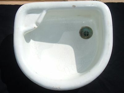 Antique Earthenware Bathroom Sink Glazed Vessel 1 of 7