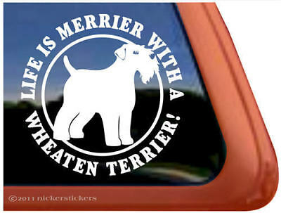Life is Merrier with a Wheaten Terrier Decal Sticker
