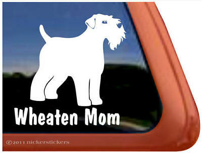Wheaten Terrier Mom Dog Window Decal Sticker~Cute!