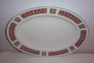 GLO-WHITE ALFRED MEAKIN SAVOY RED LEAVES PLATTER 14 ""