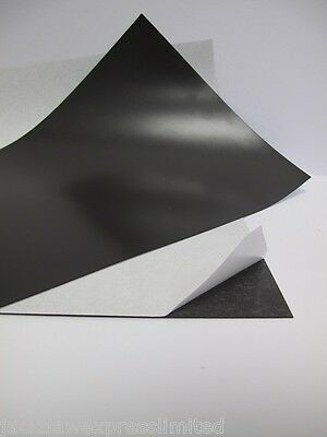 2 x A4 Self Adhesive Magnetic Sheet 0.7mm Thick