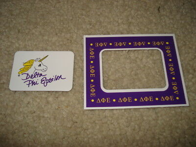 DELTA PHI EPSILON  Magnetic Picture Frame + Note Holder