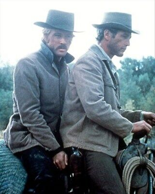 PAUL NEWMAN AS BUTCH CASSIDY, ROBERT REDFORD 8x10 Photo cool pic 269566