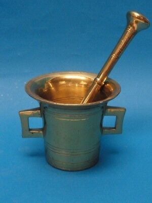 Antique 19 Century Brass  Mortar & Pestle