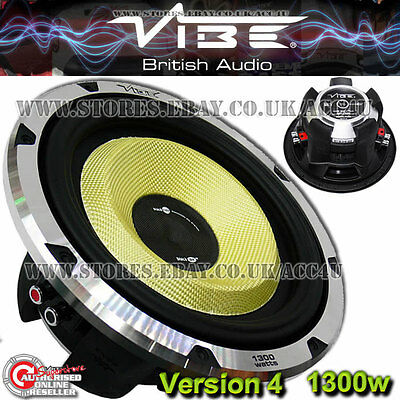"Vibe Blackair 10"" BA10-V4 1300W Car Bass Sub Subwoofer"