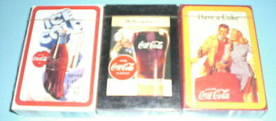 3 Coca Cola Coke Decks Playing Cards - Sealed