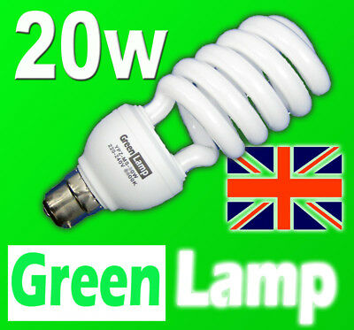 20w => 100w 2700k Energy Saving CFL warm bulb BC B22