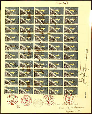 Gemini 8 Signed Cover Armstrong/scott Ext Rare Pa179