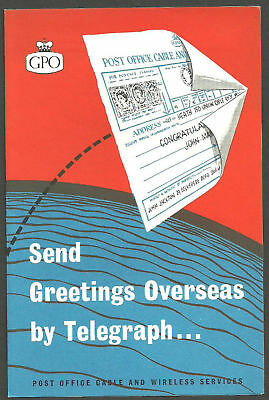 Send Greetings Overseas By Telegraph Gpo Leaflet