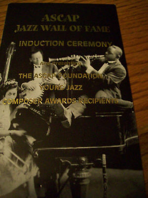ASCAP Jazz Wall Of Fame Induction Program John Coltrane