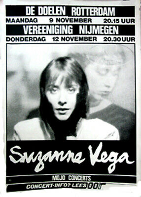 Suzanne Vega 1987 Europe Tour Concert Poster