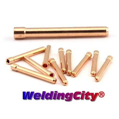 """WeldingCity 10 Collets 10N24 (3/32"""") for TIG Welding Torch 17/18/26"""