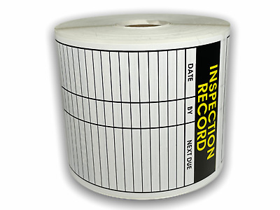 250 Labels of 3.5x5 SERVICE RECORD INSPECTION Service Sticker Rolls