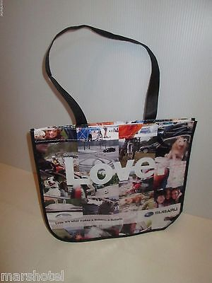 Subaru Automobile Car Love Promo Reusable Shopping Totebag Handled Tote Bag