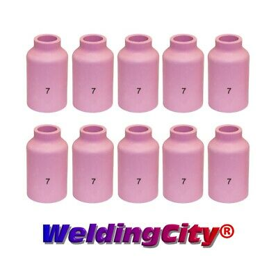 10-pk TIG Welding Ceramic Gas Lens Cup 54N15 #7 Torch 17/18/26 | US Seller Fast