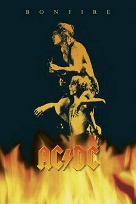 Acdc Bon Scott In Fire Ac/dc - New Poster 24X36 Bonfire