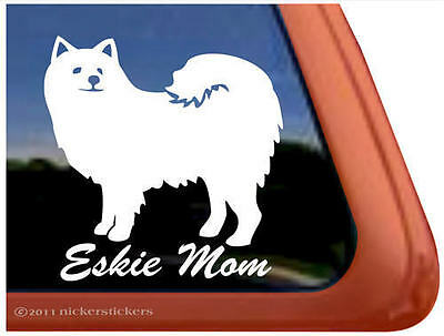 ESKIE MOM American Eskimo Dog Window Sticker Decal