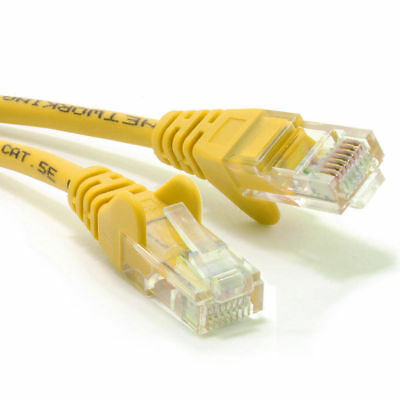 5m 5 Metre Ethernet CAT 5e RJ45 Network Cable YELLOW