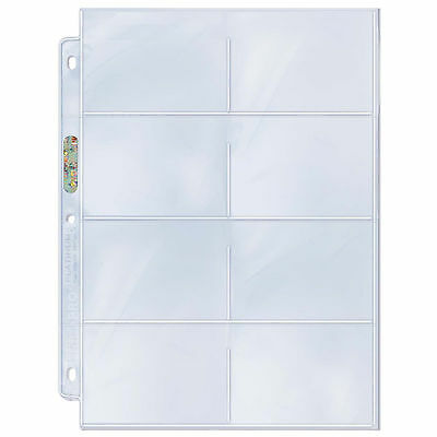 Ultra Pro Platinum 8 Eight Pocket Pages 100 count