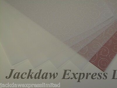 Printed Vellum White Baroque 25 Sheets 100gsm A4 Cardmaking Scrapbooking AM495