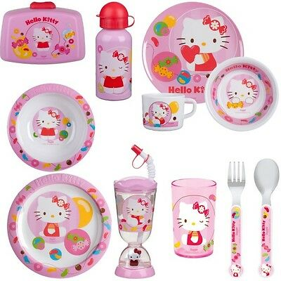 Hello Kitty Kinder Geschirr Set Melamin Teller... NEU