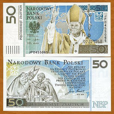 Poland 50 Zlotych 2006 Pick 178 Folder, UNC > John Paul II