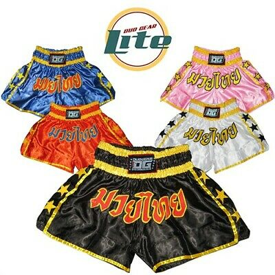 DUO GEAR 'LITE' THAI TRAINING AND FIGHTING TRUNKS (Kids XS - XL Adults)