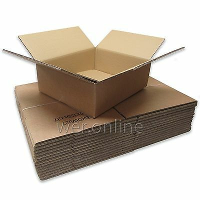 "40 Strong Laptop Mailing Cardboard Boxes 16.5x14x5"" DW"