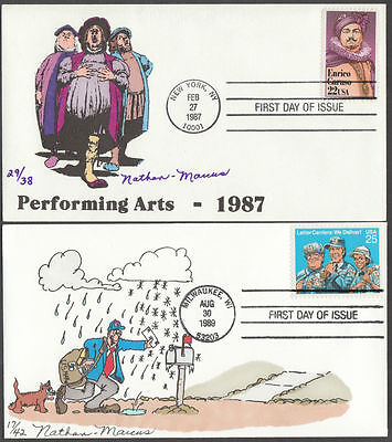 #2250; 2420 Fdc Handpainted By Nathan Marcus Cht Bm8713