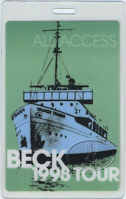 Beck 1998 Mutations Tour Laminated Backstage Pass